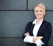 可爱的女实业家 免版税库存图片