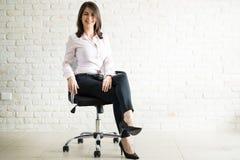 可爱的女性企业主 免版税库存图片