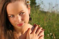 可爱的妇女年轻人 免版税库存图片