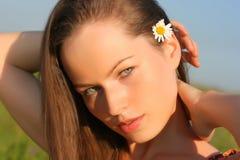 可爱的妇女年轻人 免版税库存照片