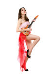 年轻可爱的妇女 免版税库存图片