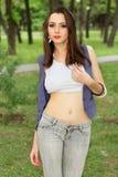 年轻可爱的妇女 图库摄影