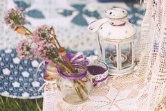 可爱的婚礼装饰 免版税库存照片