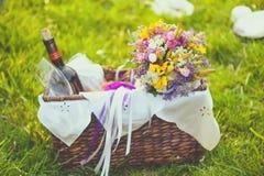 可爱的婚礼装饰 库存图片
