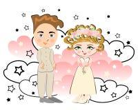 可爱的婚礼 免版税库存照片