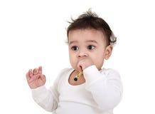 可爱的婴孩印地安人 库存图片