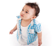 可爱的婴孩印地安人 免版税库存图片