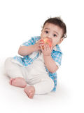 可爱的婴孩印地安人 库存照片