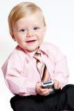 可爱的婴孩生意人纵向 免版税库存图片