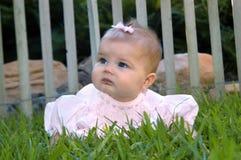 可爱的婴孩礼服粉红色 免版税库存图片