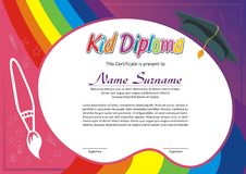 可爱的孩子文凭-证明 皇族释放例证