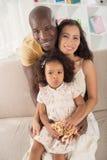 可爱的家庭 免版税库存照片