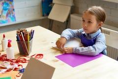 可爱的小女孩在发展学校 免版税图库摄影