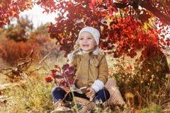 可爱的小女孩穿冬天衣裳 图库摄影