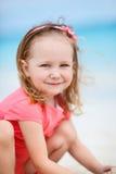 可爱的小女孩纵向 免版税图库摄影