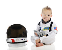 可爱的小宇航员 免版税图库摄影