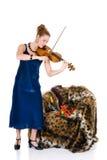 可爱的小提琴手 库存照片