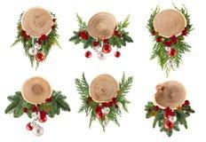 可爱的小的圣诞节设计模板可以使用作为背景 免版税库存照片