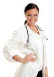 可爱的微笑的医生。 免版税图库摄影
