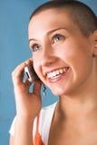 可爱的微笑的妇女 免版税图库摄影