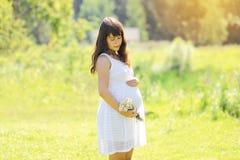 可爱的怀孕的女孩 免版税库存图片