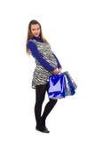 可爱的怀孕的购物妇女 库存图片