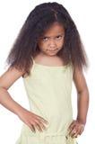 可爱的恼怒的女孩 库存图片