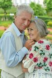 可爱的愉快的成熟夫妇 库存图片