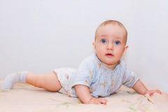可爱的新出生的婴孩 库存照片