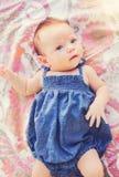可爱的新出生的婴孩 免版税库存照片