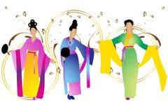 可爱的日本妇女 免版税库存图片