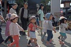 可爱的日本孩子,高山市,日本 免版税图库摄影