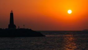 可爱的日落在西班牙 免版税库存图片