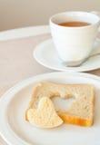 可爱的早餐 免版税库存照片