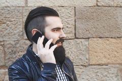 可爱的有胡子的人 库存照片