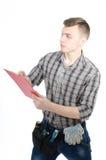 可爱的杂物工 年轻建筑师 免版税库存图片
