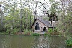 可爱的池塘在南部的春天 库存照片