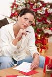 可爱的浅黑肤色的男人拟订圣诞节文&# 库存图片
