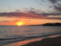 可爱的海岛日落 图库摄影