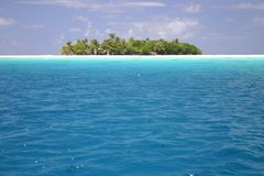 可爱的海岛Rangiroa。 免版税库存照片