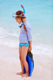 可爱的海滩女孩一点 库存图片