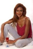 可爱的深色的印第安二十妇女 库存图片