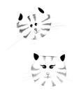 可爱的猫夫妇 免版税图库摄影
