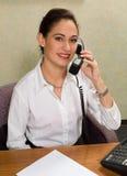 可爱的电话妇女 库存照片