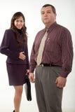 可爱的男人和妇女商人 免版税库存图片