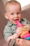 可爱的男婴一点 免版税图库摄影