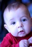 可爱的男婴月大六 免版税库存图片