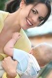 可爱的男婴系列愉快的母亲 免版税图库摄影