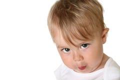可爱的男婴 图库摄影