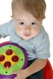 可爱的男婴 免版税库存照片